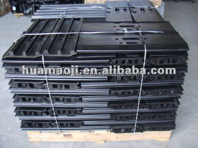 Excavator track pad assembly, steel track shoe,track pin link