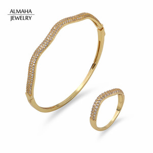 White Rose Gold Handmade Jewelry Wave Design Indian Hot selling Sex Bangle Sexy Bangle