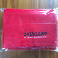 100 Polyester Cheap Cozy Fleece Blankets in Bulk With Embroidery