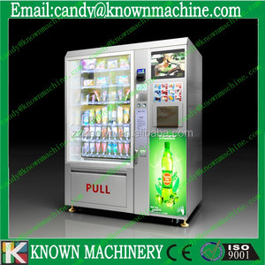 vending machine shoes with LCD advertising screen with coin acceptor