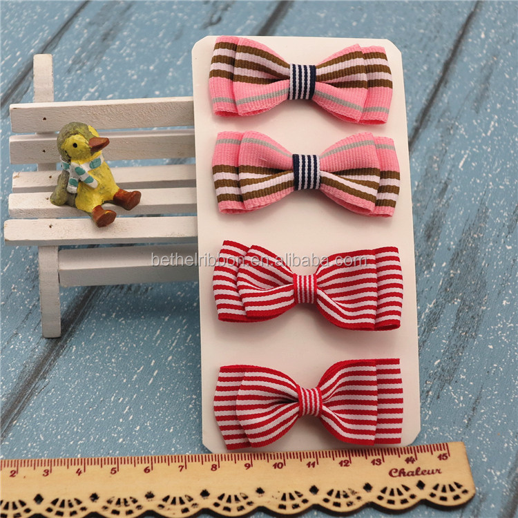 high quality preppy style handmade check ribbon bows for gift wrapping and craft