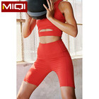 Custom very soft all way stretch crop top and shorts women gym set
