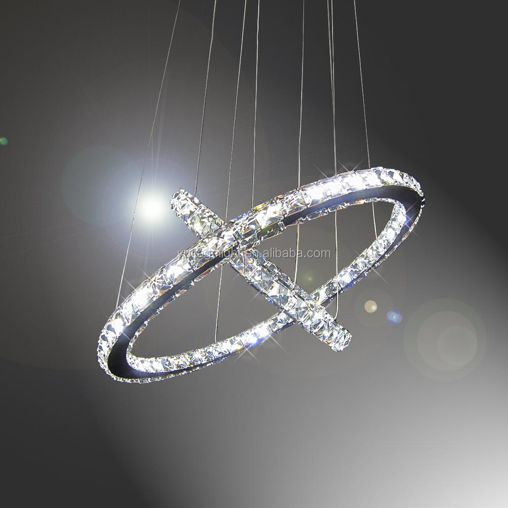 Modern led pendant light crystal with chrome metal round circle modern led pendant light crystal with chrome metal round circle ceiling chandelier made in zhongshan guzhen arubaitofo Images