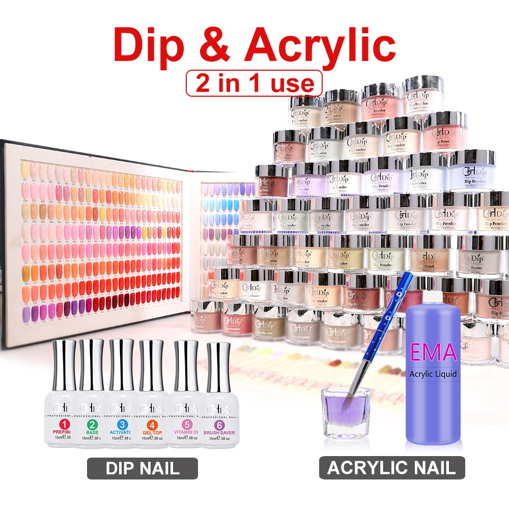 red Color 2in1 use Acrylic Nail Dipping Powder Factory Wholesale Price