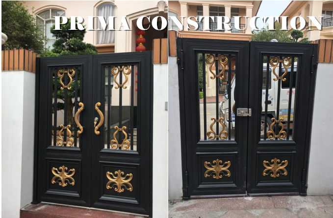 New Style Luxury Low Price Double Door Iron Gates Wrought Iron Gate Simple garden grill entrance gate