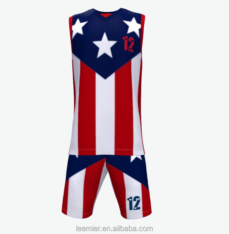 1dc3236998bbd Custom Best Sublimation American Basketball Jersey Uniform Design ...