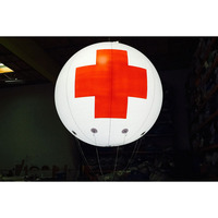 Advertising Red Cross Inflatable Helium Medical Balloon for Event