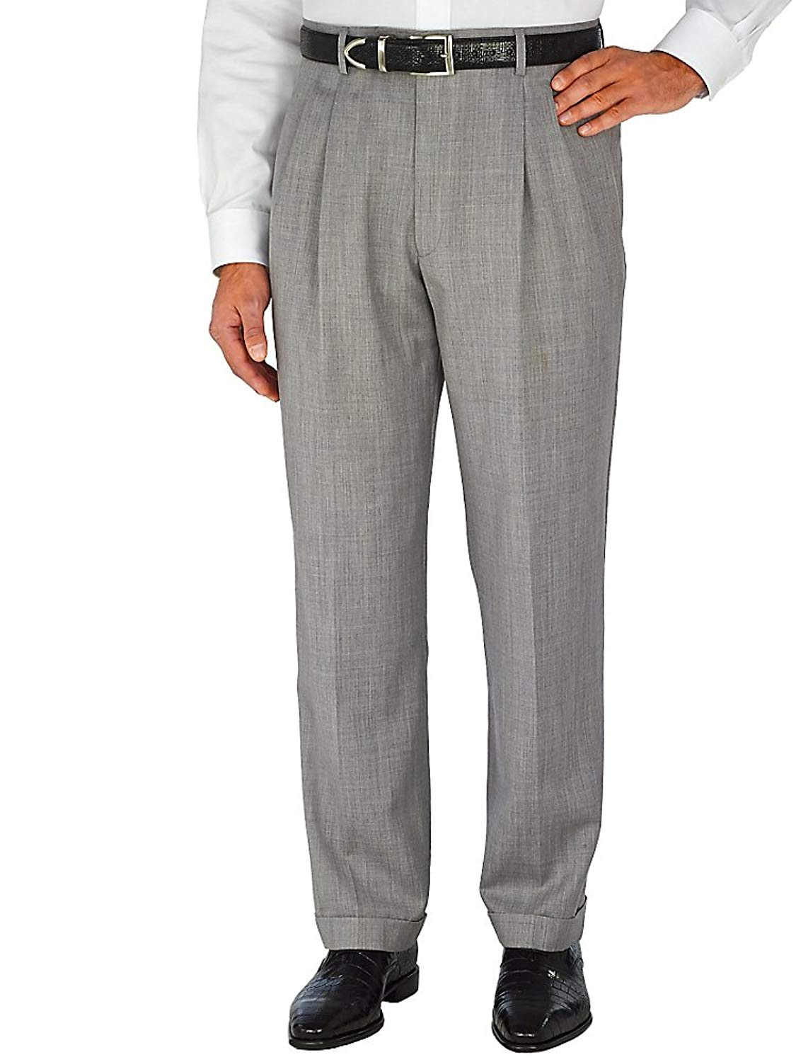 10c922f2e31c Kirkland Signature Mens Italian Wool Pleated Dress Slacks