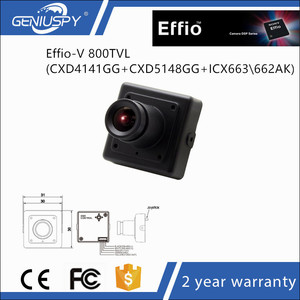 "30*30mm Miniature Size Effio-V DSP 1/3"" Sony CCD 800TVL 0.0003Lux Low Lux 3.6mm Board Lens Color Ultra WDR MINI Square Camera"