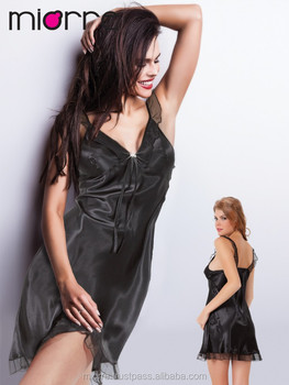 45aad4efb3d4 Miorre Black Nightgown - Buy Satin Nightgown