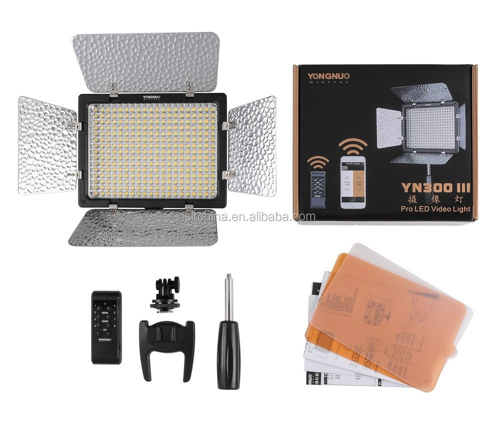 YONGNUO YN300 III YN-300 III LED Camera Video Light with Adjustable Color Temperature 3200K-5500K