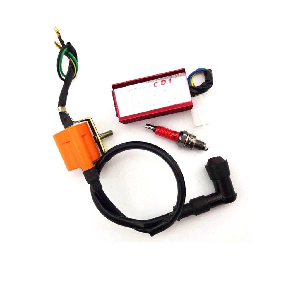 Buy Tc Motor Racing Ignition Coil Ac Cdi Box A7tc Spark Plug For 50cc Atv Wiring