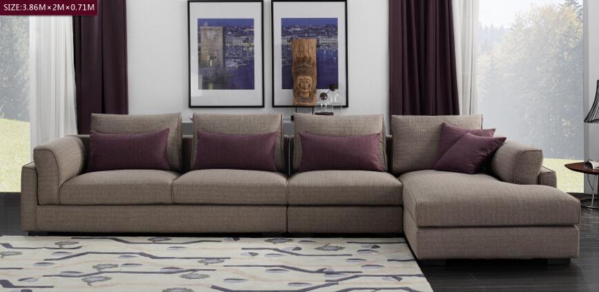 Goose Feather Padded Modern Fabric Sofa Set Designs Salon Furniture Waiting  Sofa