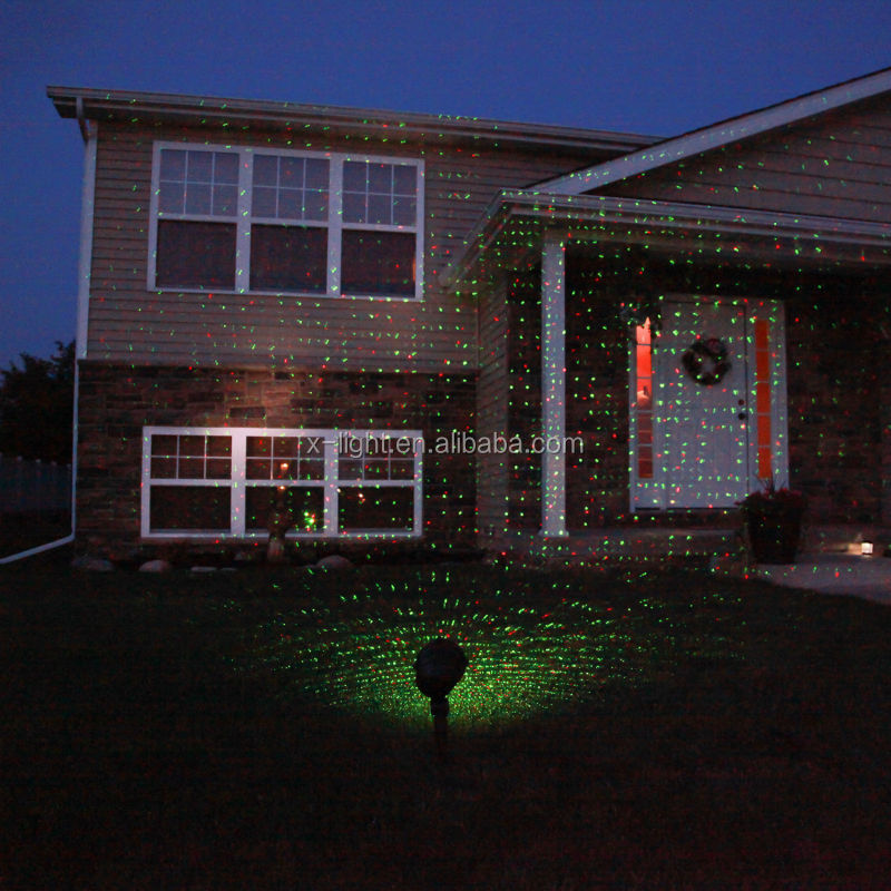 Red Green Moving Laser Light Outdoor,Christmas Roof Decoration ...