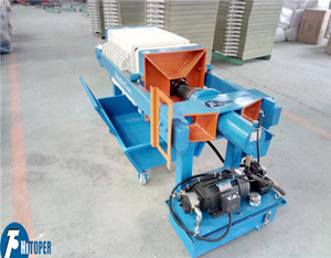 Manual discharge slurry chamer small filter press, small hydraulic filter press hot sale for test