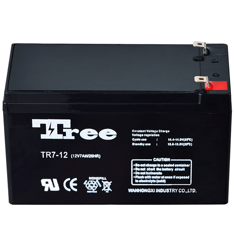 Free maintenance sealed lead acid battery small rechargeable battery 12v 7ah