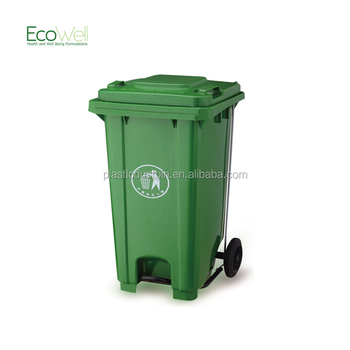 Online Selling Plastic Garbage Bin 80l With Middle Pedal