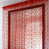 2016 Hot Sale Romantic String window Curtain with Heart Pattern