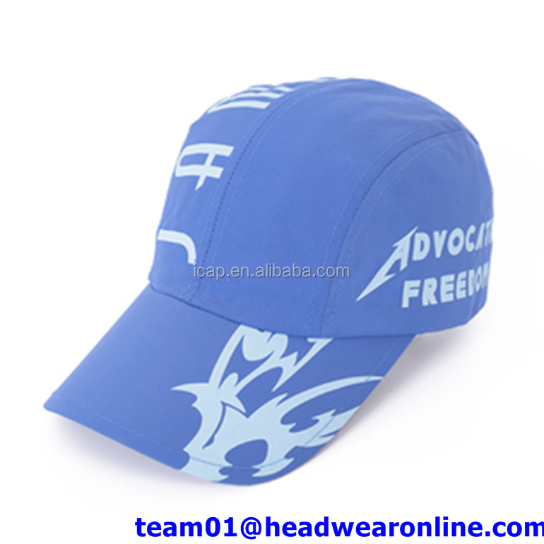 custom dry fit running sport full cap hat