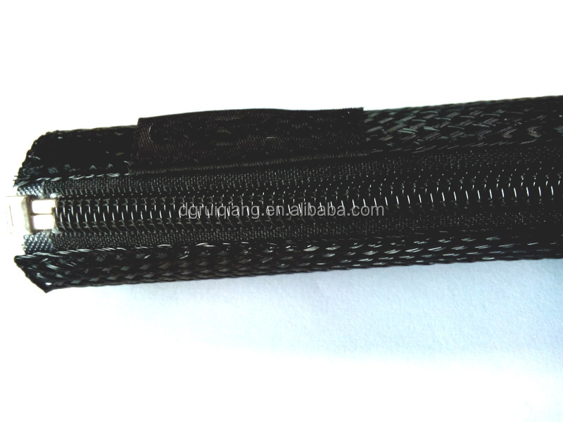 flexible expandable braided sleeving cable sock zipper sleeve braided wrap buy cable sleeve. Black Bedroom Furniture Sets. Home Design Ideas