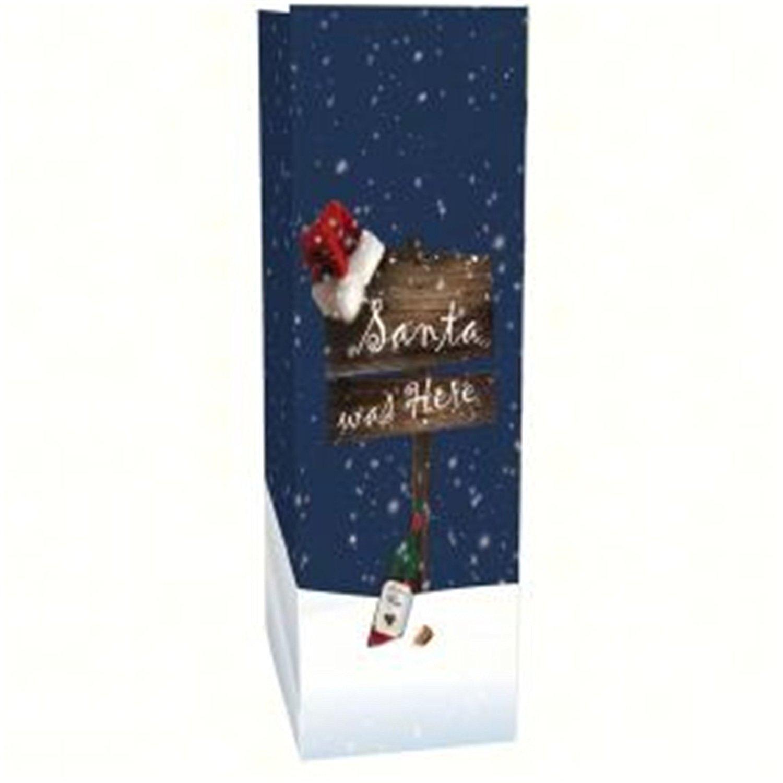 Bella Vita Economical Single Wine Bag - Santa Was Here