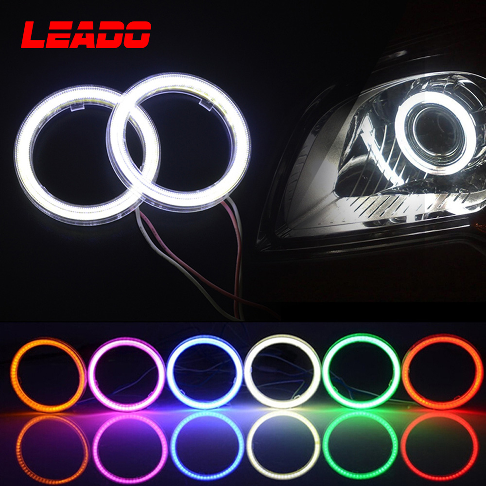 60 70 80Mm 12V Car Motorcycle Led Angel Eyes Halo Ring With Lampshades