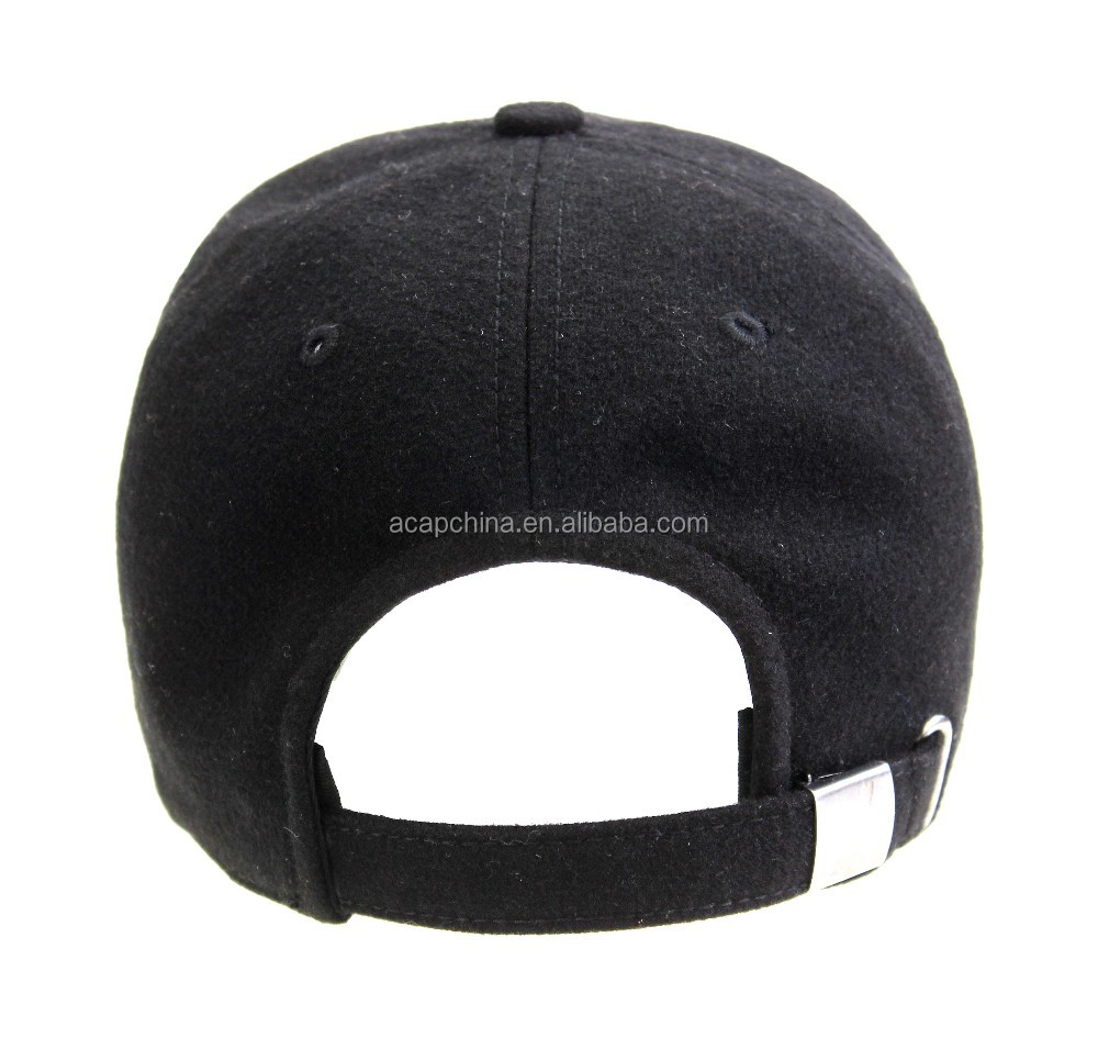 Black Classical Blank 6-Panel Men Baseball Cap With Competitive Price