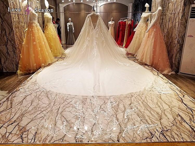 Ls5462 High Neck Cape Turkey Istanbul Latest Decent Bridal Wedding ...