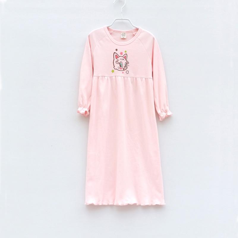 SYROSA Girl's Nighties Sleepwear Long Sleeves Cotton Cute Rabbit Princess Nightdress Sleepwear Years £ Girls Nightie Ariel Cinderella MLP Scooby Doo Shopkins Princesses Frozen.