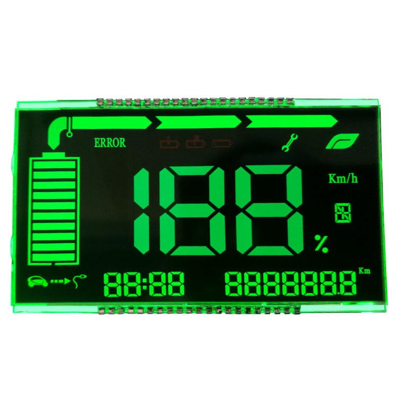 OEM segment black speedometer VA display indicator custom size lcd screen