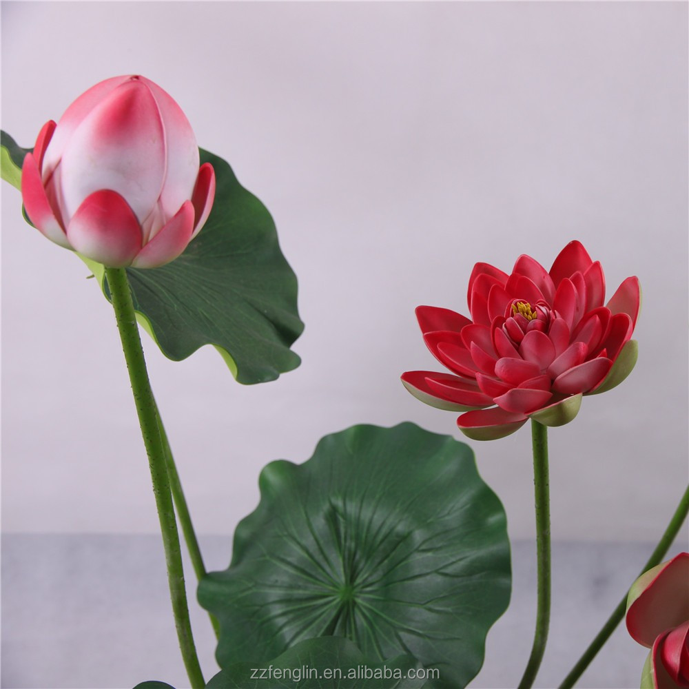 Nearly Natural High Quality Artificial Lotus Flower Wholesale