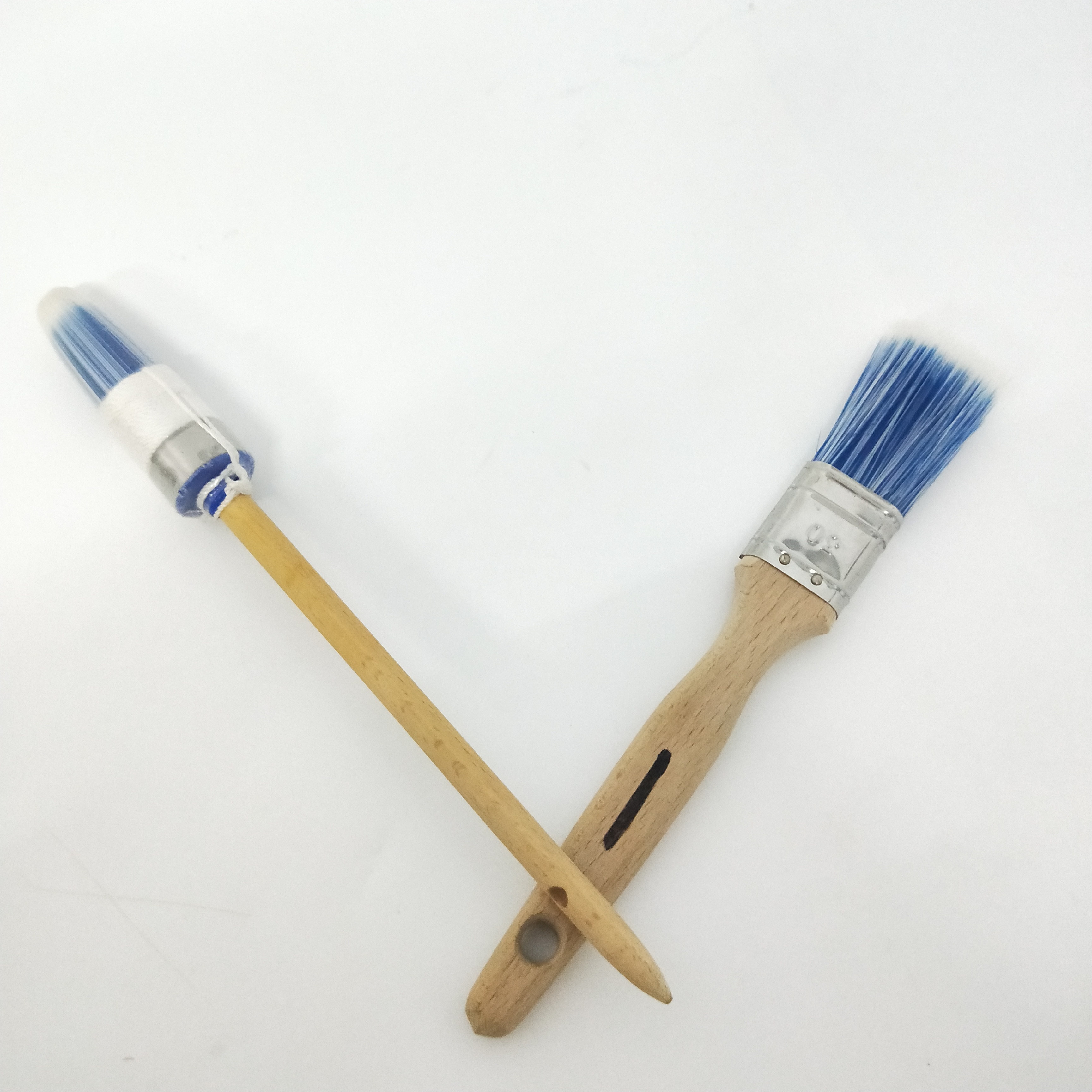 Pro Chalk & Wax Brush Set for Painting Furniture 3 Paint Brushes