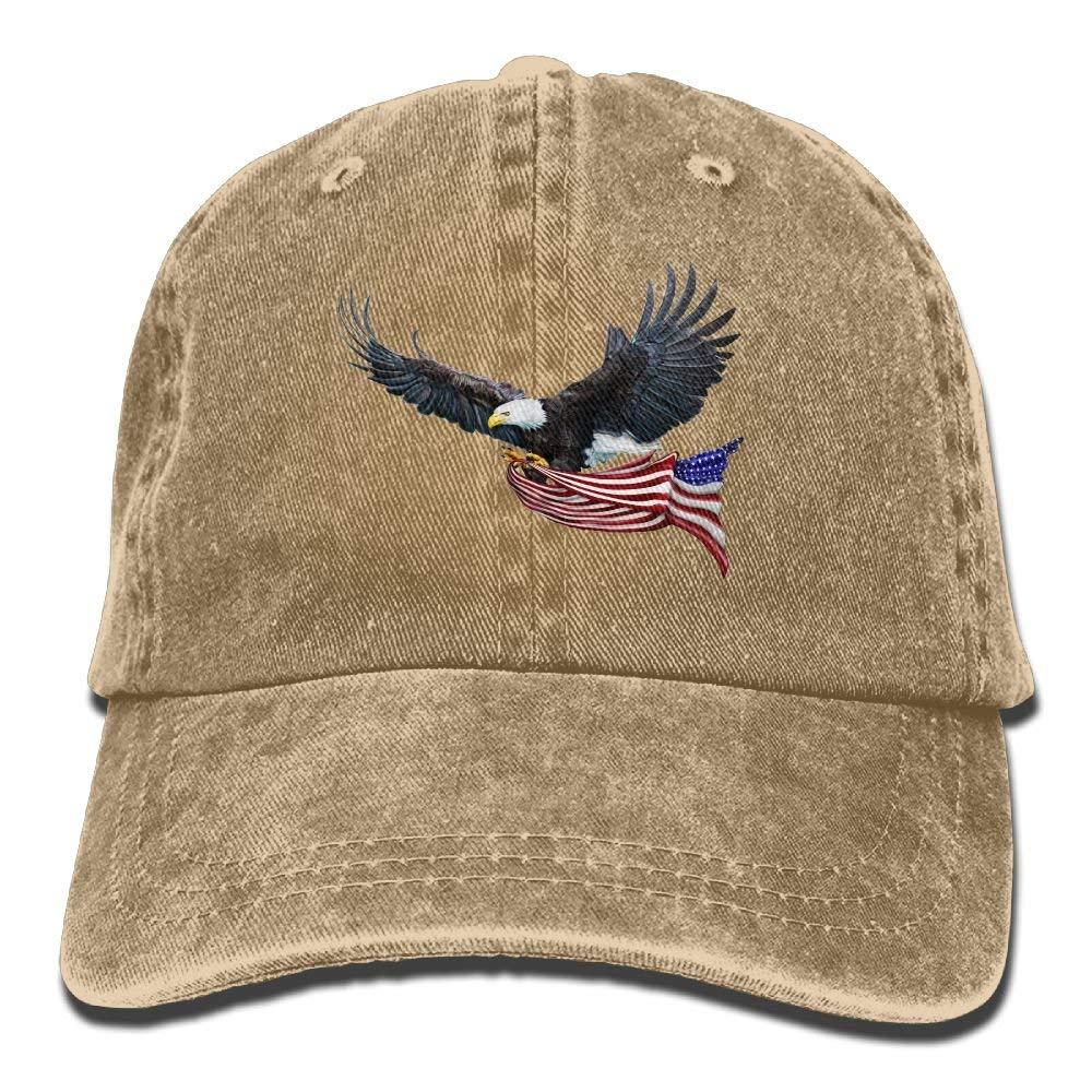HXXUAN Baseball Hats Sunset American Flag Eagle Snapback Sandwich Cap Adjustable Peaked Trucker Cap