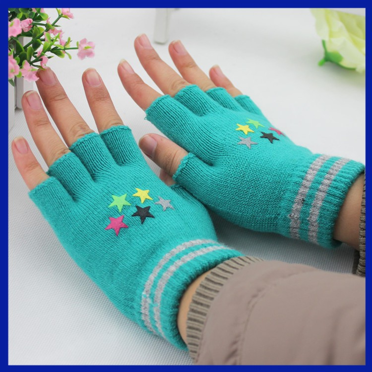 Knit Short Cable Half Fingers Gloves For Winter Hand Warmers - Buy ...