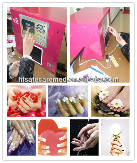Manicure Nail Art printers,Pre-load Windows XP and nail software
