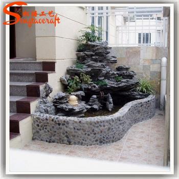 Ltimo dise o fibra roca cascada de rocas artificiales for Diseno de jardines para el hogar