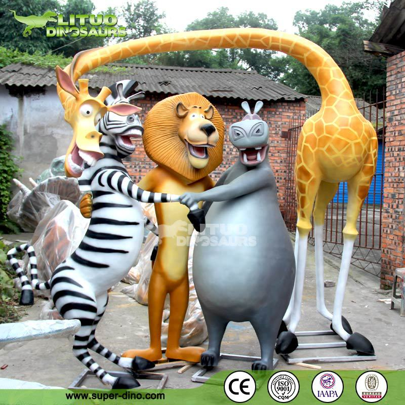 Madagascar 2 Cartoon Characters : Fiberglass madagascar statue animal cartoon character