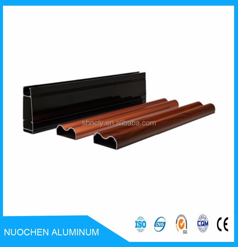 2016 Wooden grain aluminium extruded profiles with competitive price