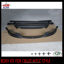 New pp plastic material car body kit rear and front bumper for cruze wtcc style