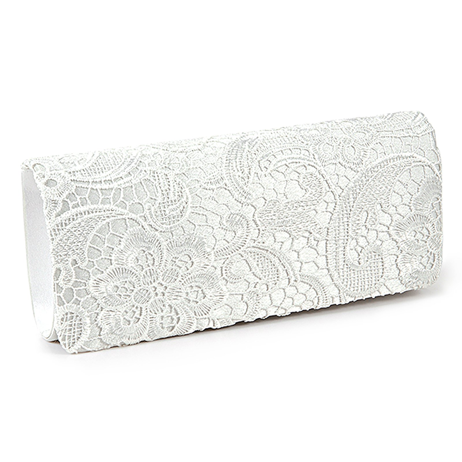 4c448429f60b Wholesale SCYL Women Lace Floral Satchel White Clutch Bag For ...