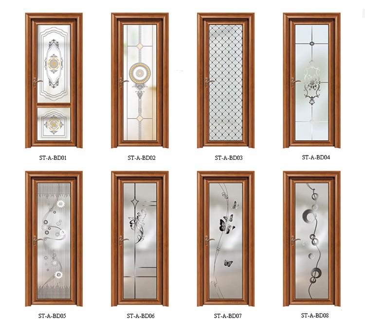 diseo elegante hardware de aluminio helada bao puerta corredera de cristal