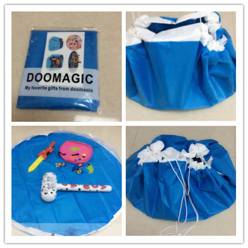Hot Sale Portable Drawstring Toys Organizer Blanket Kids Children ...