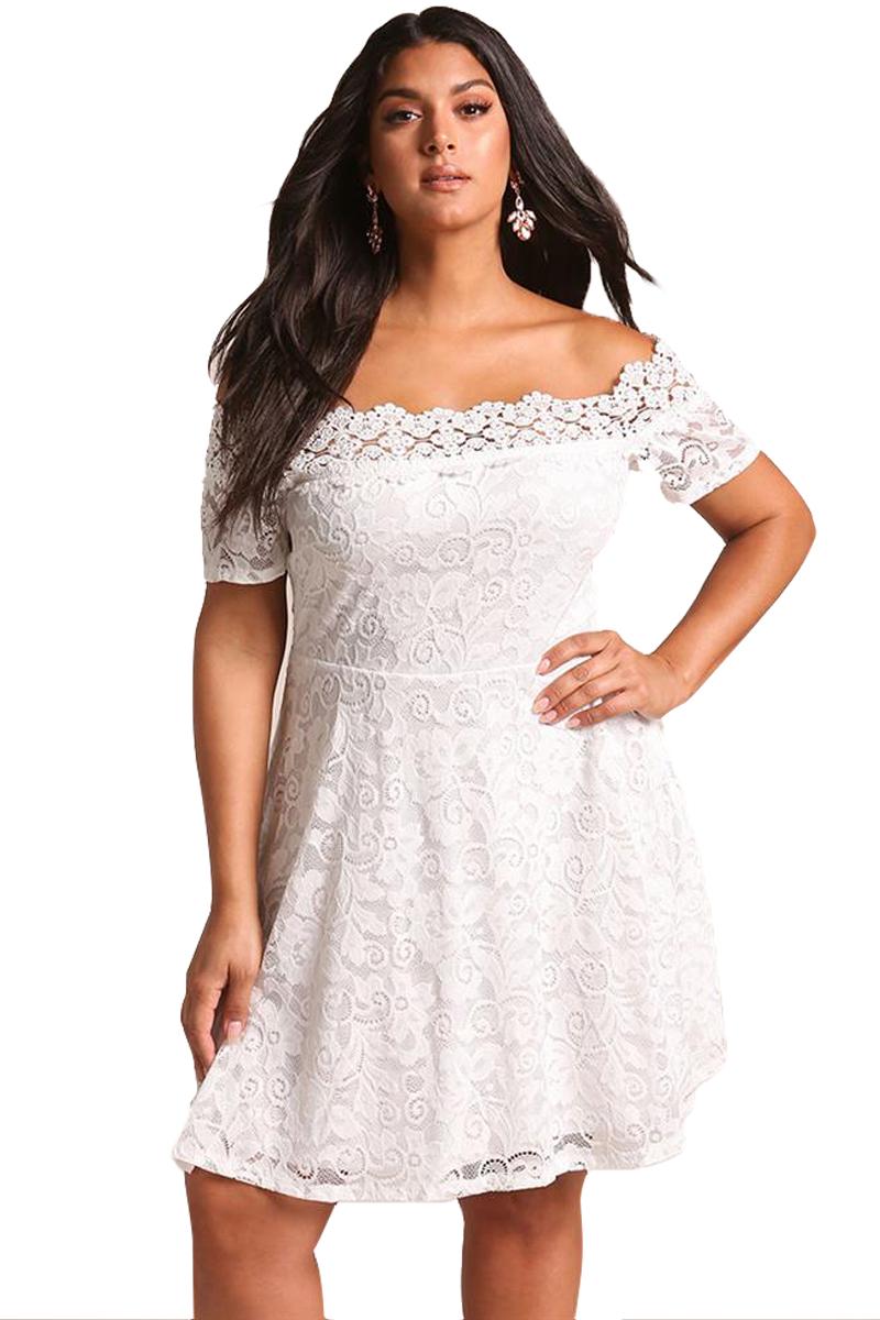 White Off Shoulder Fat Women Lace Dress Patterns - Buy Fat Women Lace Dress  Patterns,Plus Size Lace Dress,Off Shoulder Dress Product on Alibaba.com