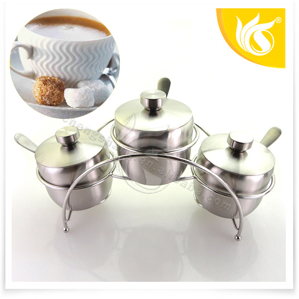 New style Stainless Steel Sugar and creamer set