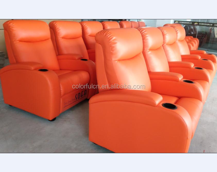 Orange 4 Seats Recliner Sofa Ls607 Buy Orange Recliner Sofa 4