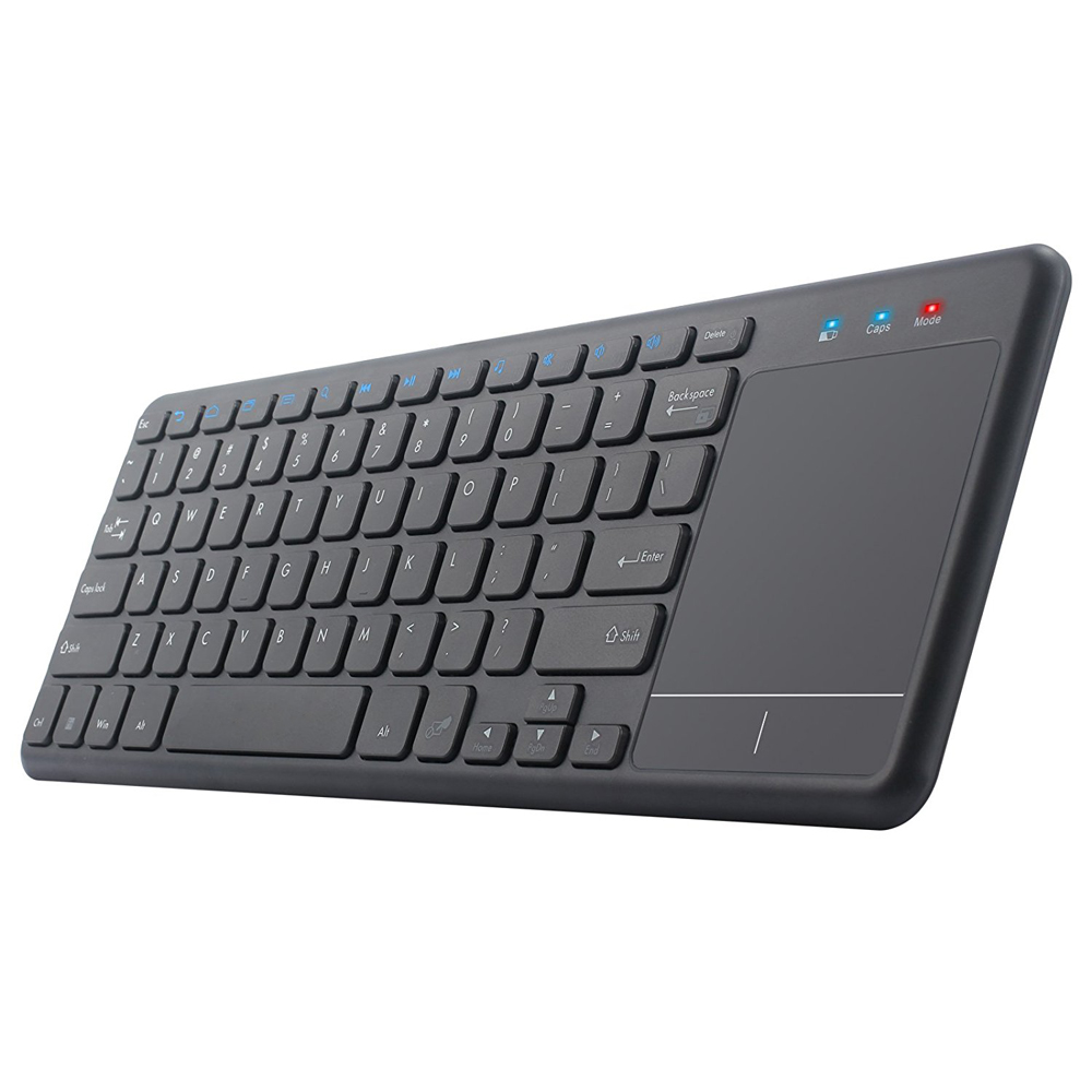 QWERTY nero wireless mouse touchpad per apple