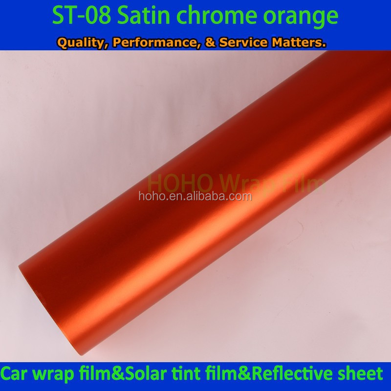 Hoho orange matte chrome vinyl custom vehicle wraps car graphics