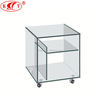 Moderne Glazen Tv Meubel.2018 Hot Koop Moderne Glas Tv Stand Met Wielen Buy Glas Tv Unit Tv Meubel Hot Buigen Glazen Product On Alibaba Com