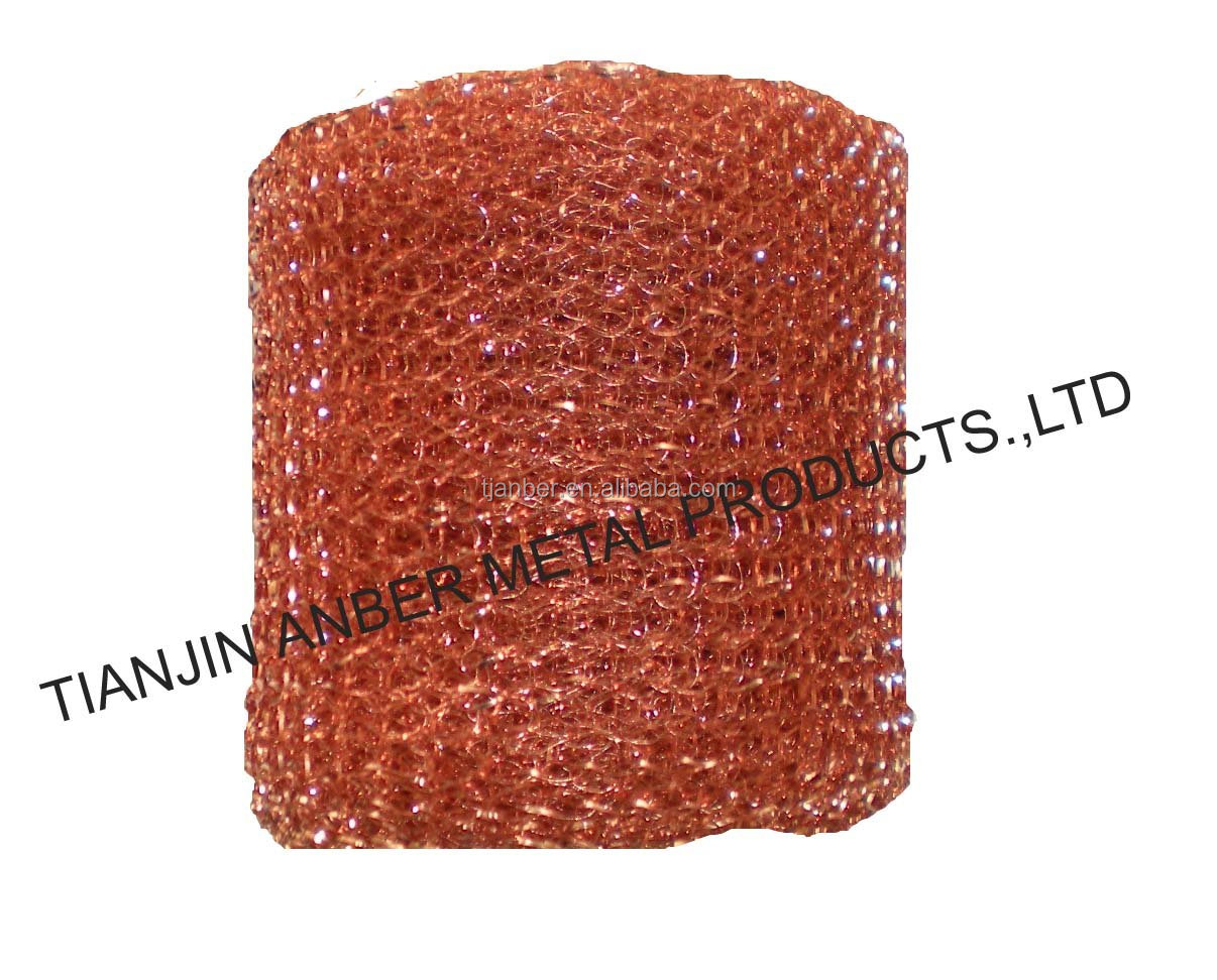knit Copper Coated Iron Wire for copper coated wire mesh scourer