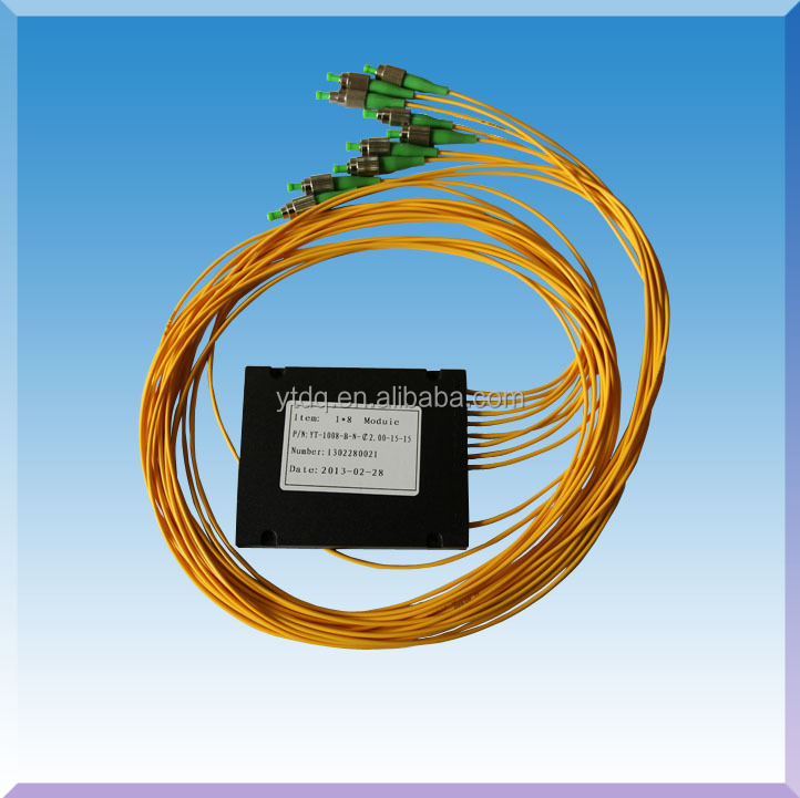 FTTH FTB 1 split to 8 Fiber Optic PLC amplifier Splitter